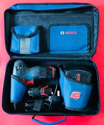 """BOSCH GSR10.8V-Li Cordless Drill/Driver with 2 Batteries & Charger """"USED"""""""