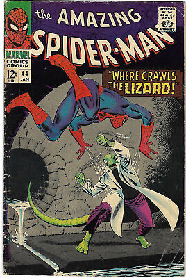 "1967. ""AMAZING SPIDERMAN"". Vintage Marvel comic Vol.1 #44. VG."
