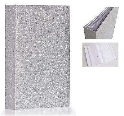 Large Silver Glitter Bling Memo Slip In Photo Album 300 6 x 4 Photos