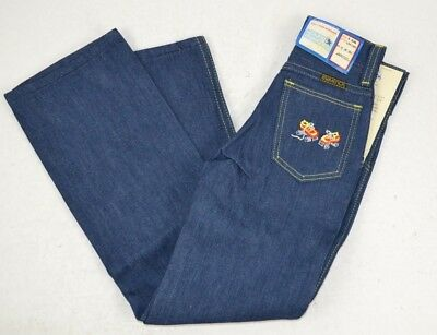 Vintage Maverick Girls Dark Blue Jeans w/ ROLLER SKATES on Pocket 6 Slim