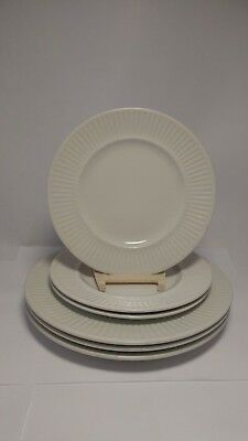 6pc Johnson Brothers Athena White England 1883 3x Salad Plates 3x Bread & Butter