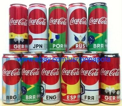 Thailand Coke 2018 FIFA World Cup Russia set 11 cans 325 ml ThaiNamthip