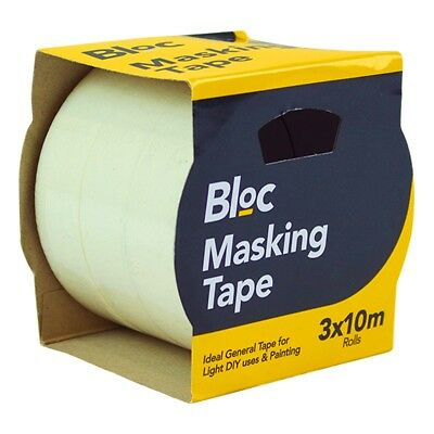 "30M Strong MASKING TAPE Rolls 1"" Easy Peel Outdoor/Indoor Painting Decorating"