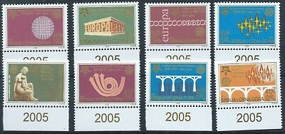 SERBIA & MONTENEGRO 2005 SG132-139 Anniversary Europa Set Mint MNH With Tabs