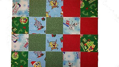 "40 5"" Quilting Fabric Sqs POOH ETC Fun Pack- NEW PATTERNS!Pooh,Spongebob/Olaf"