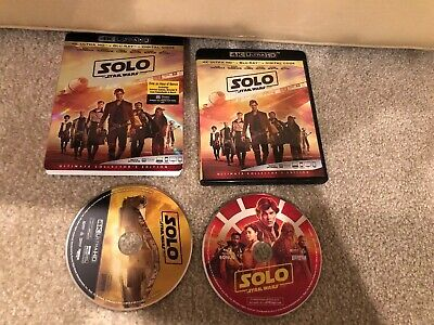Solo A Star Wars Story 4K Ultra HD 1 Disc  Set ( No Digital )
