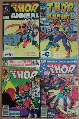 """1981- 84. FOUR x """"Mighty THOR"""". King-Size Annuals. Vol.1 #'s 9; 10; 11; 12. Fine"""