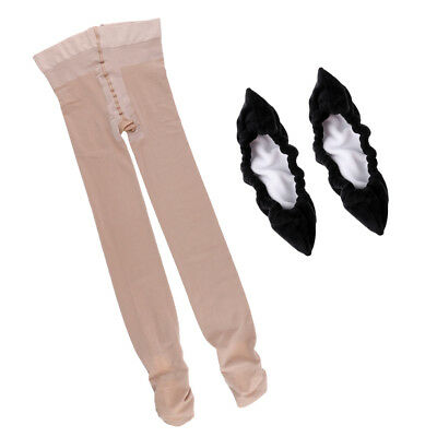 Footed Ice Figure Skating Tights Pants with High Elasticity & Skate Cover