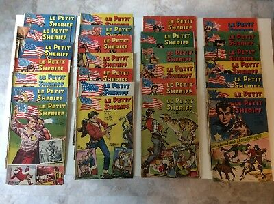 Lot Of 27 Vintage Comics, Le Petit Sheriff, 1950's, Western Theme, In French