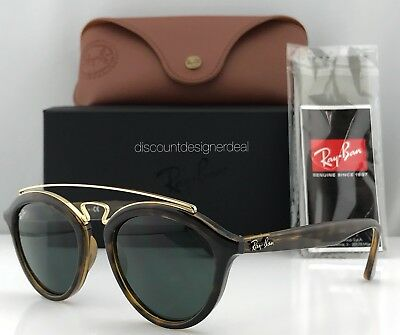 d4501b14d8 Ray-Ban Gatsby II RB4257 Oval Sunglasses Havana Brown Green Lens 710 71  Small