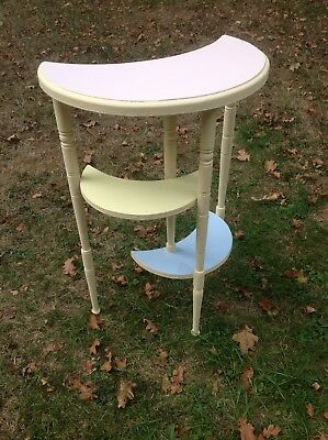 3 Tier painted wooden old Whatnot Stand