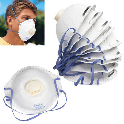 10pk North Disposable N95 Particulate Respirator Mask Valve Safety Dust Gear