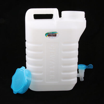 Water Storage Bottle Container Jerry Can 7.5L Carrier Tap Travel Camping