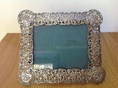 c1886 Antique SILVER Photograph Frame ROSENTHAL JACOB & Co GOTHIC Art Nouveau