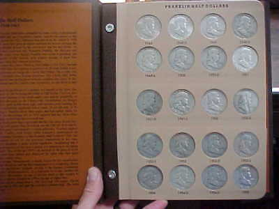 1948-1963 Franklin Silver Half Dollars Complete Quality Circ  35 Coins in DANSCO