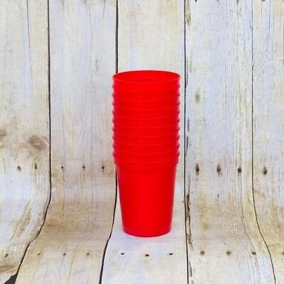 16 ounce Red Stadium Cups Pack Of 10, Plastic party Cups