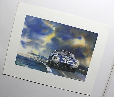 1964 Carroll Shelby Dayton Cobra Coupe Bill Neale Artist Racing Poster Phil Hill