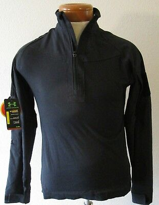 037ca8cb NWT Under Armour Mens UA Storm L/S Tactical Combat Shirt S Black MSRP$75