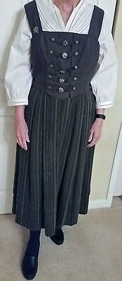 Authentic German dirndl by Alpentraum with metal Edelweiss enhancements