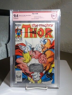 Thor #338 CBCS (like CGC) NM 9.4 SIGNED by Walter Simonson (Marvel Comics, 1983)