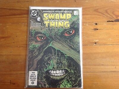SWAMP THING 49. 1986. ALAN MOORE. 1st APPEARANCE DARK JUSTICE LEAGUE.