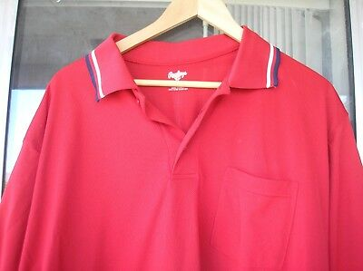 BASEBALL UMPIRE UNIFORM SHIRT Bright Red Size XL Rawlings Softball EXCELLENT!