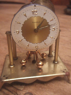 Vintage Ranela Small Brass Carriage Clock For Spares Or Repairs