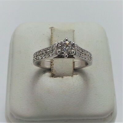 18ct WHITE GOLD .650CT DIAMOND RING VALUED @$3609 COMES WITH VALUATION