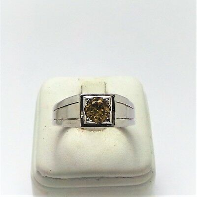 18Ct White Gold 1Ct Yellow Sapphire Ring Valued @$2216 Comes With Valuation