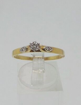 18ct YELLOW GOLD DIAMOND RING VALUED @$1144 COMES WITH VALUATION