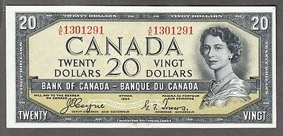 1954 Bank of Canada - $20.00 Devil Face Note - Coyne Towers - EF - A/E 1301291