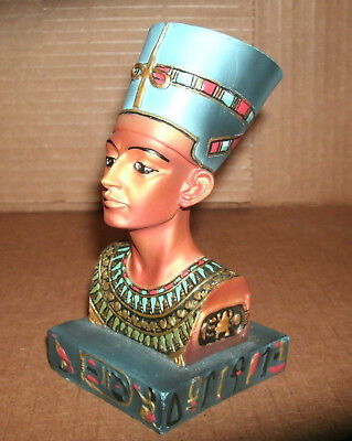 Ancient Egyptian Queen Nefertiti Bust 5 Inch Statue - Detailed Sculpture Decor