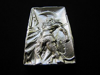 HACMint 5 oz 999+ Fine Silver ROMAN GLADIATOR Hand Poured ART BAR