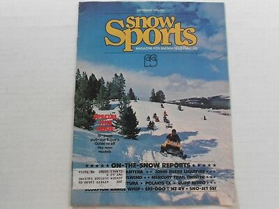 Snow Sports snowmobile magazine 1976 Buyers Guide Ski-Doo RV JD Liquifire SST