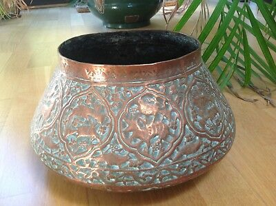 19thC ARTS & CRAFTS Copper Jardiniere PERSIAN Inspired NEWTON KEATES & Co