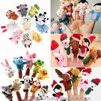 1~10Pcs Finger Puppets Doll Baby Educational Hand Cartoon Fun Learning Kid Toy
