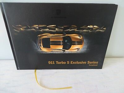 Porsche 911 Turbo S Exclusive Series Exceptional Hardcover Book Brochure Catalog