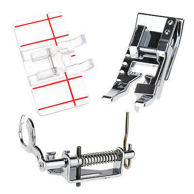 3PCS Plastic Parallel Stitch Foot Presser Home Domestic Sewing Machine Diff Type