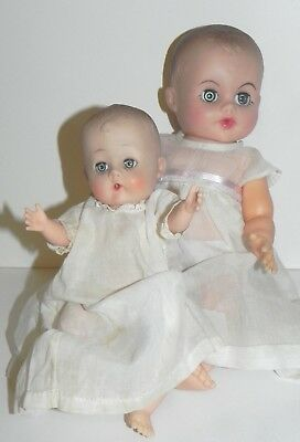 Vintage Eegee Drink and Wet Baby Doll Lot Vinyl TLC Two Dolls