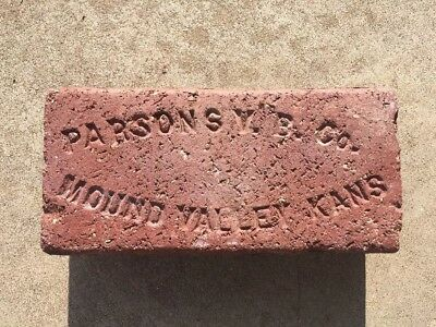 Rare...Excellent Condition..PARSONS V.B. CO. MOUND VALLEY, KANSAS Brick