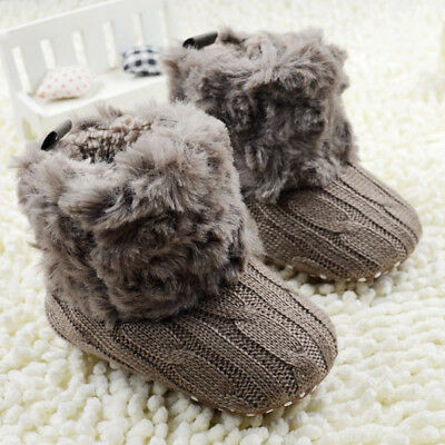 0-18M Newborn Baby Boy Girl Snow Boots Infant Toddler Kids Crib Shoes Prewalker