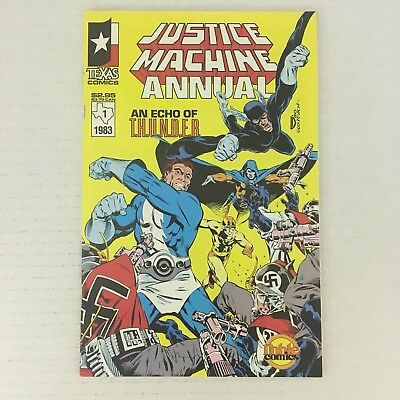 JUSTICE MACHINE Annual #1 1st Appearance Elementals Texas/Noble 1983 VF/NM!!!