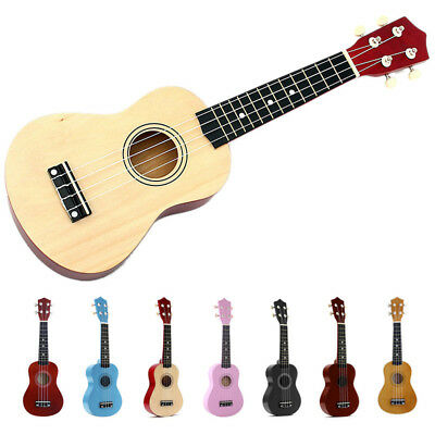 N1 21 inch Soprano Ukulele 4 Strings Hawaiian Guitar Uke + String + Pick Fo O9R4