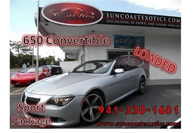 2008 BMW 6-Series 650i 2008 BMW 6-Series, 650 CONVERTIBLE SPORT PKG, LOADED W EVERY AVAIL OPTION! NICE!
