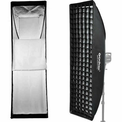 Godox 22x90cm Rectangle Bowens Mount Strip Softbox With Grid For Strobe Flash