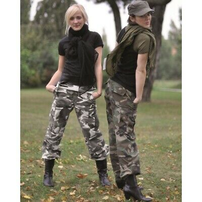 US BDU HOSE Damen R/S PREWASH Tarnhose Military Cargohose Outdoor Army Woman