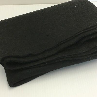 """100% Wool Felt Fabric Black Large Piece 26"""" x 36"""" 936 Sq. Inches for Crafting"""