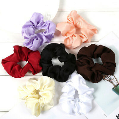 Trendy Lady Ponytail Hair Scrunchie Ring Elastic Pure Color Sports Dance