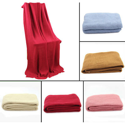Cotton Soft Hand Woven Classic Light Weight Adult Cellular Blanket Throw 6 Color