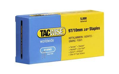 Tacwise 0302 97/10mm Narrow Crown Staples for Staple Gun (Pack of 5000)